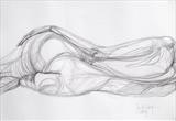 Before slumber by Juliet Eardley, Drawing, Graphite on paper