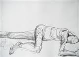 Ben resting: Front by Juliet Eardley, Drawing, Graphite on paper