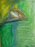 Ironic lightning 2 by Juliet Eardley, Drawing, Oil Pastel on Paper