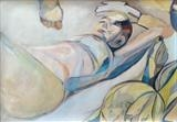 Samuel said I should rest by Juliet Eardley, Painting, Acrylic on paper